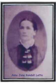 Anna Jane Kendall Latta, circa 1870