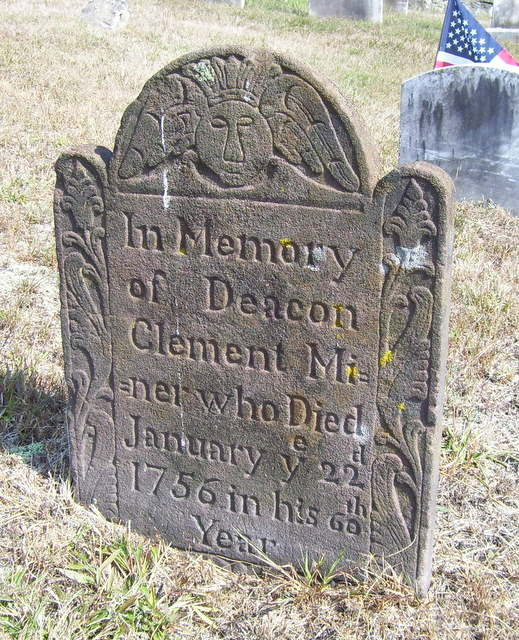 Clement Minor Gravestone - Old Stone Church Burial Ground  East Lyme New London -- Find A Grave Memorial# 27555261