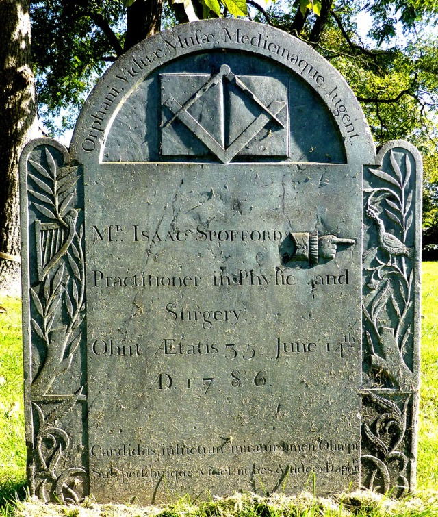Dr Isaac Spofford was buried in Abbott Street Burial Ground  Beverly, Essex , Mass  Find A Grave Memorial# 30394919