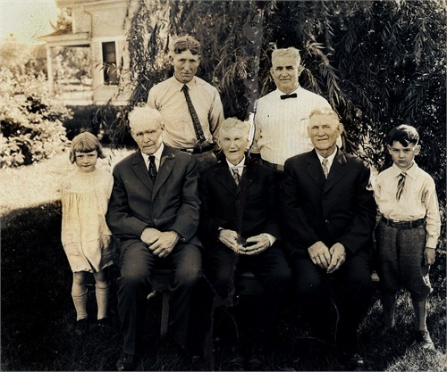 George Austin Latta and family