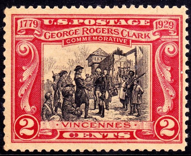 George Rogers Clark recaptured Fort Sackville in the February 23, 1779 Battle of Vincennes without losing a single soldier