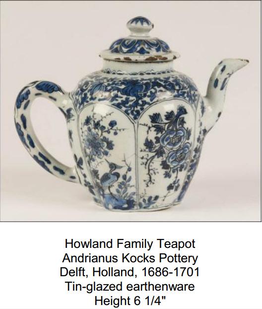 Howland Family Teapot - Pilgrim Hall Museum