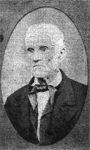 Likeness of Joshua Hunt printed when he was 74 years of age.
