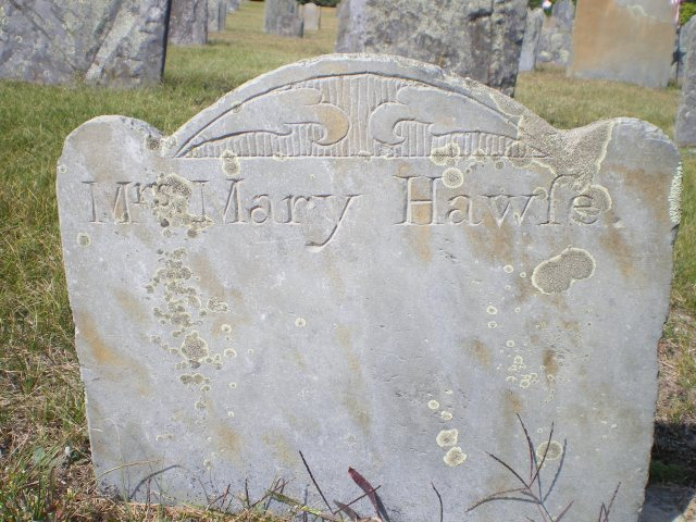 Mary Hawes Footstone