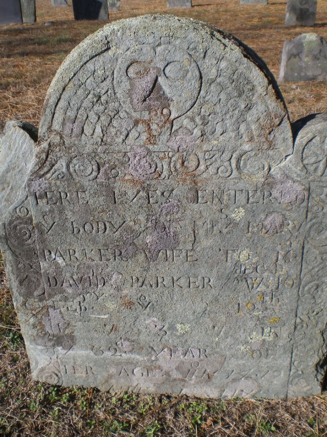 Mary Hawes Parker Gravestone