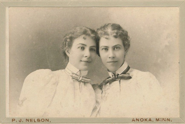 Nellie and Lucy Coleman, Anoka, MN 1898