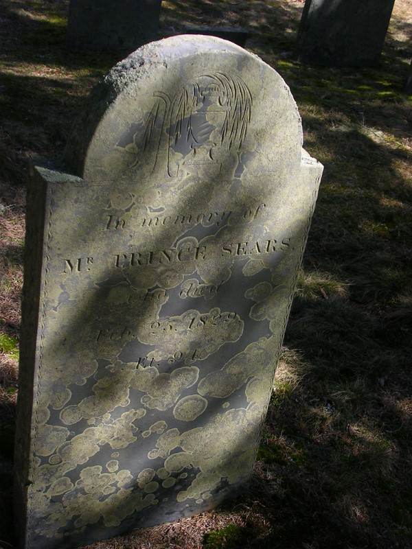 Prince Sears Gravestone -- Sears  emetery  East Dennis Barnstable, Plot: #33 Find A Grave Memorial# 39184932