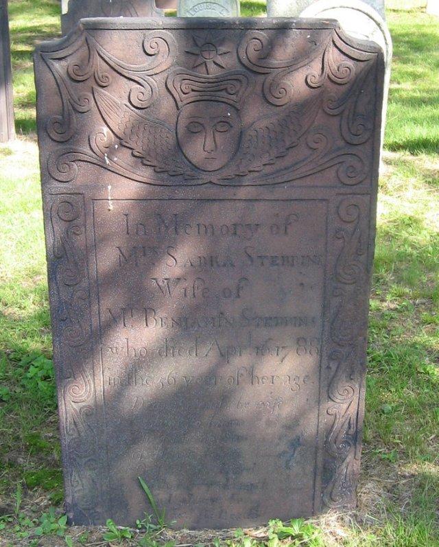 Sabra Stebbins Gravestone --Park Street  Cemetery West Springfield