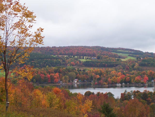 Typical scenery of the Hamilton area in the fall season.  Hamilton township is the home of Colgate University.