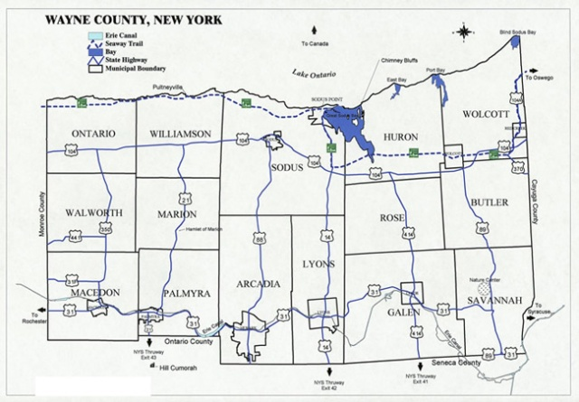 Townships of Wayne County New York