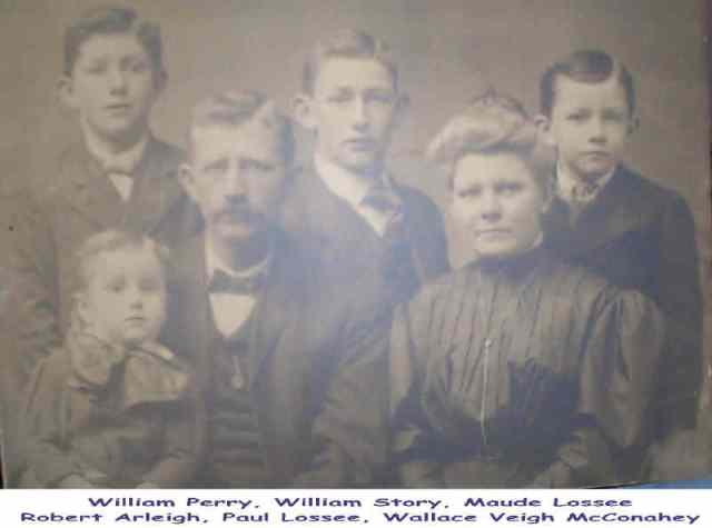 William Story McConahey family circa 1905