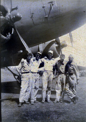 WWII RH Halls Plane & Crew C-47.  Dick was very proud to be a pilot