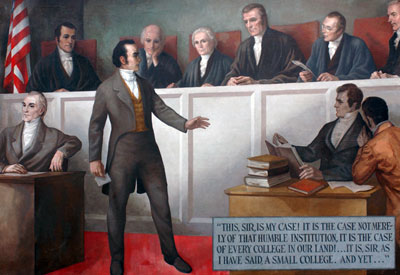 an interpretation of the constitution by john marshall and daniel webster How did these john marshall supreme court decisions contribute to a greater sense of help me please (ap us history) while william wirt and daniel webster.