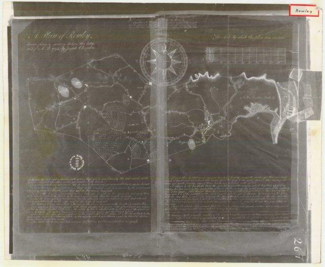 Map made for Joseph Chaplin 1795 , Rowley, Massachusetts
