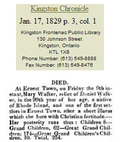 Mary Walker Obit