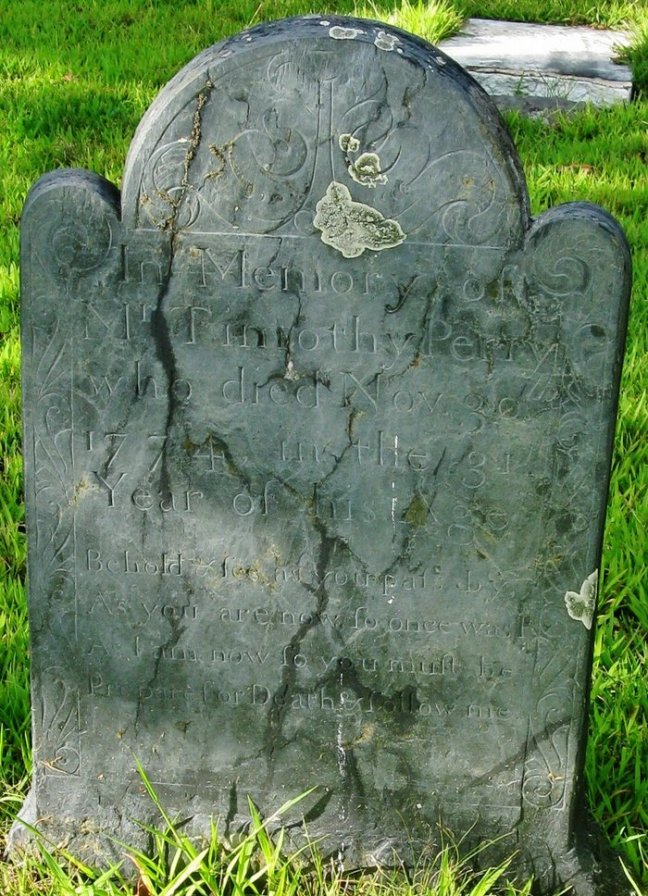 Timothy Perry Gravestone -- Oak Knoll Cemetery, Rehoboth,  Find A Grave Memorial# 63061986