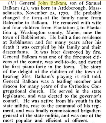 General John Balkam Bio