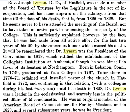 History of Amherst College during its first half .. By William Seymour Tyler