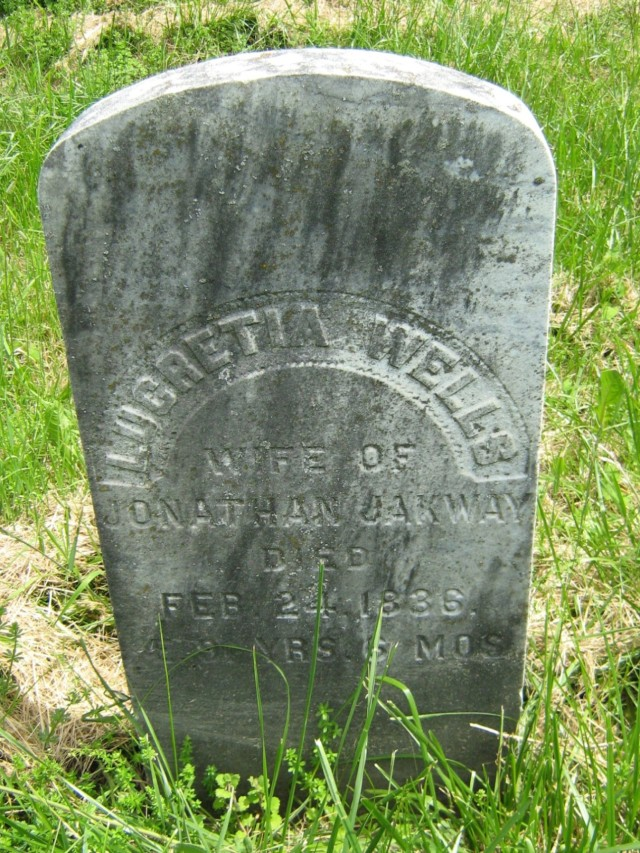Lucretia Wells Jakways Gravestone