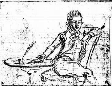 Self-portrait on the eve of André's execution
