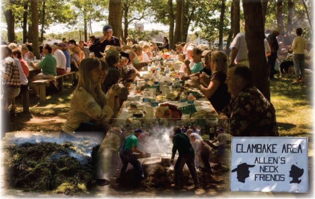Allen's Neck Clam Bake began in 1888  and has now celebrated over 120 years