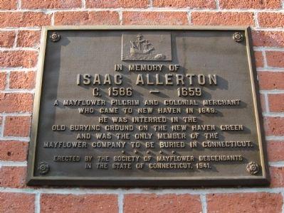 Isaac Allerton Marker