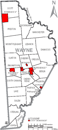 Mount Pleasant Township is on the eastern border of Wayne County.