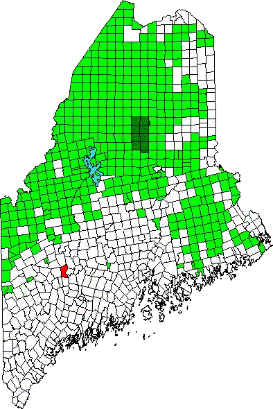 Abraham Wyman was one of the first pioneers in Chesterville, Franklin, Maine (in red)