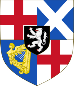"Sir Oliver Cromwell Coat of Arms - ""Arms of the Protectorate (1653–1659)"" by Sodacan            This vector image was created with Inkscape. - Own work. Licensed under CC BY-SA 3.0 via Commons - https://commons.wikimedia.org/wiki/File:Arms_of_the_Protectorate_(1653%E2%80%931659).svg#/media/File:Arms_of_the_Protectorate_(1653%E2%80%931659).svg"