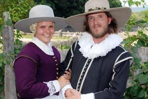 Plimoth Plantation reenacted the wedding of Governor William Bradford and Alice Carpenter
