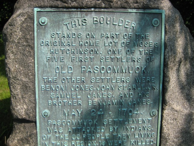 1704 Pascommuck Monument