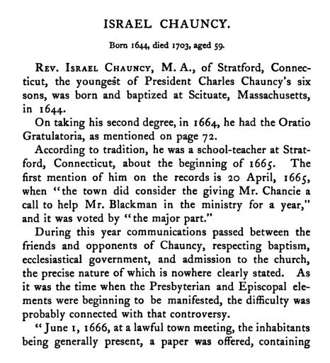 Israel Chauncy Bio 2