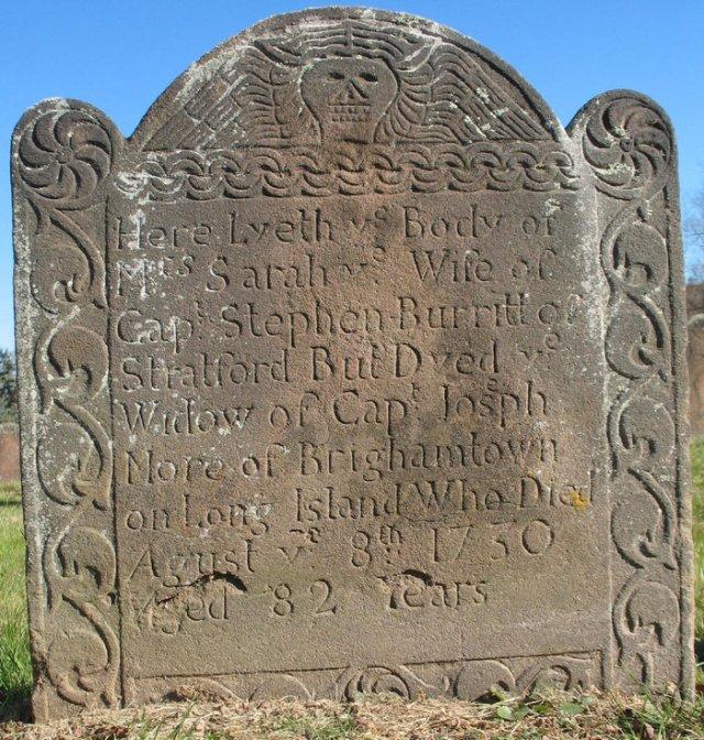 Sarah Nichols Burritt Gravestone