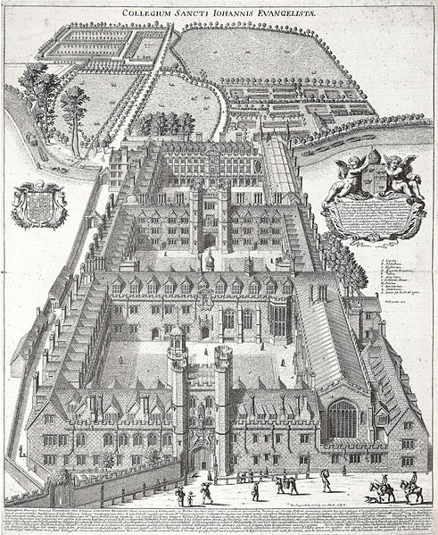 St John's College, Cambridge by Loggan c. 1685