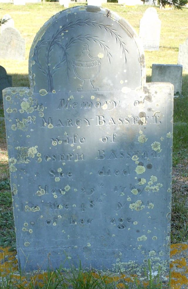 Marcy Bassett Headstone Ancient Cemetery  Yarmouth Port -- Find A Grave Memorial# 28562328