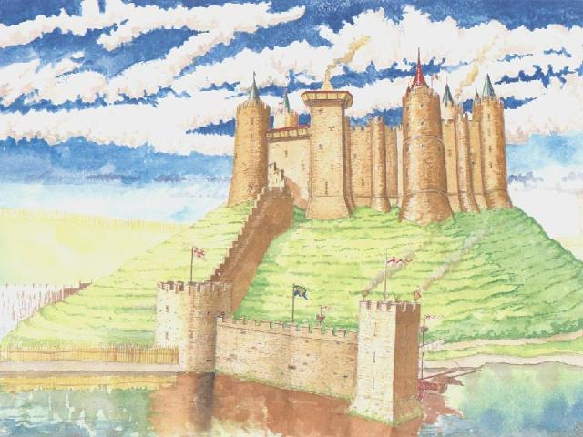 Reconstruction of Berwick Castle