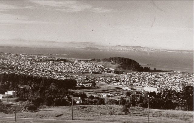 Looking Southeast toward El Cerrito High and Albany Hill 1945