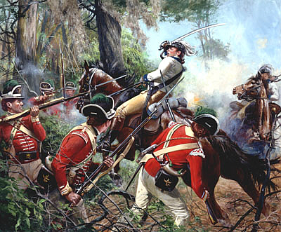 Battle of Eutaw Springs - 1781 Colonel William Washington is unhorsed during bitter fighting by Don Troiani