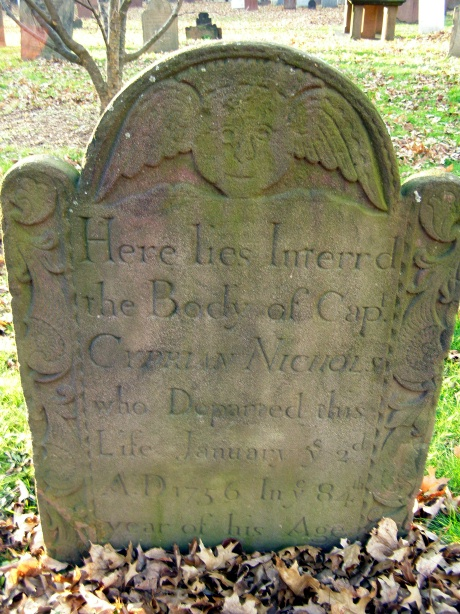 Capt. Cyprian Nichols - Ancient Burying Ground Hartford -- Find A Grave Memorial# 11438914 -