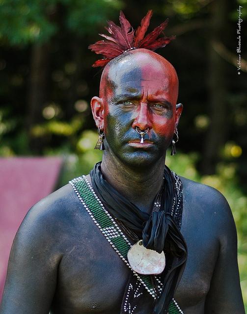 Iroquis Reenactor