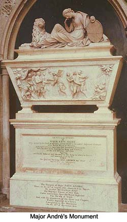Monument to Major John Andre in the nave of Westminster Abbey.