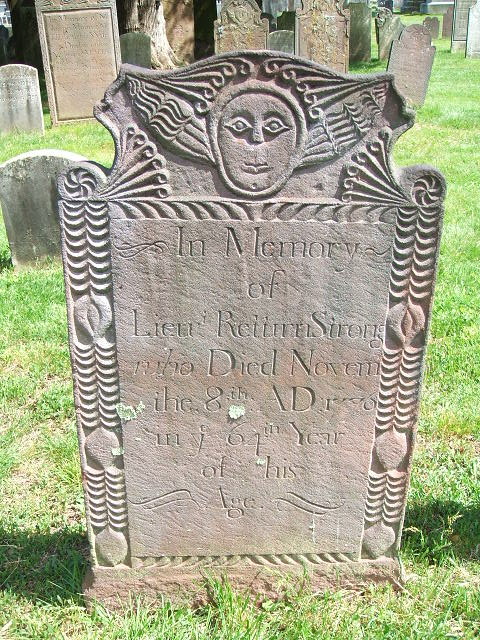 Return Strong Gravestone -- Palisado Cemetery , Windsor, Hartford , CT