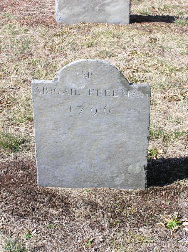 Abigail Hallett Gravestone -- Old Burying Ground Brewster Barnstable County Massachusetts, USA Plot: Map# 98 -- Findagrave #67675130