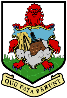 The coat of arms of Bermuda features a representation of the wreck of the Sea Venture