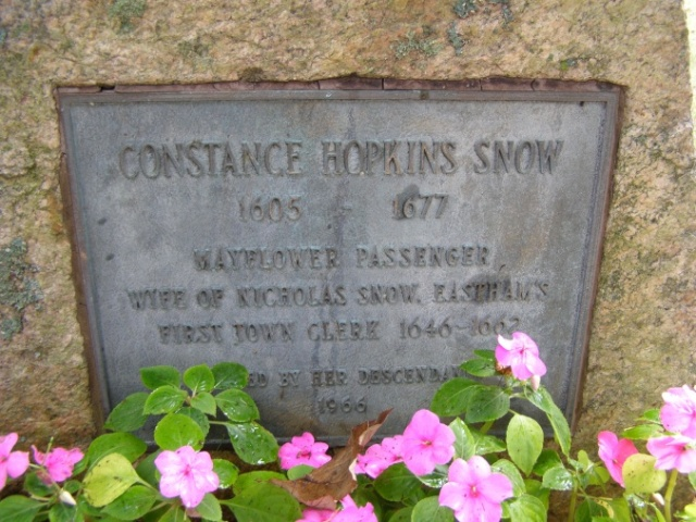 Constance Hopkins Memorial -- Cove Burying Ground Eastham  Findagrave # 8634