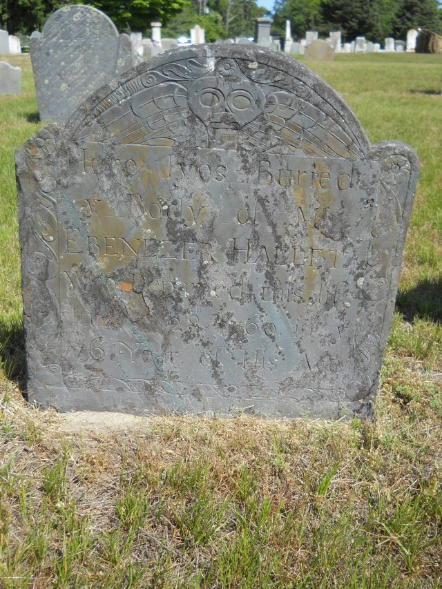 Ebenezer Hallet Gravestone -- Ancient Cemetery Yarmouth Port -- Find A Grave Memorial# 50148024