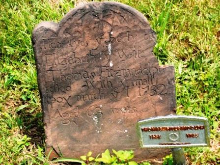 Elizabeth Manning Fitz Randolph Headstone