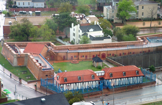 4/5 scale replica of Fort Conde in downtown Mobile