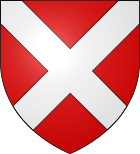 House of Neville Armorial: Gules, a saltire argent