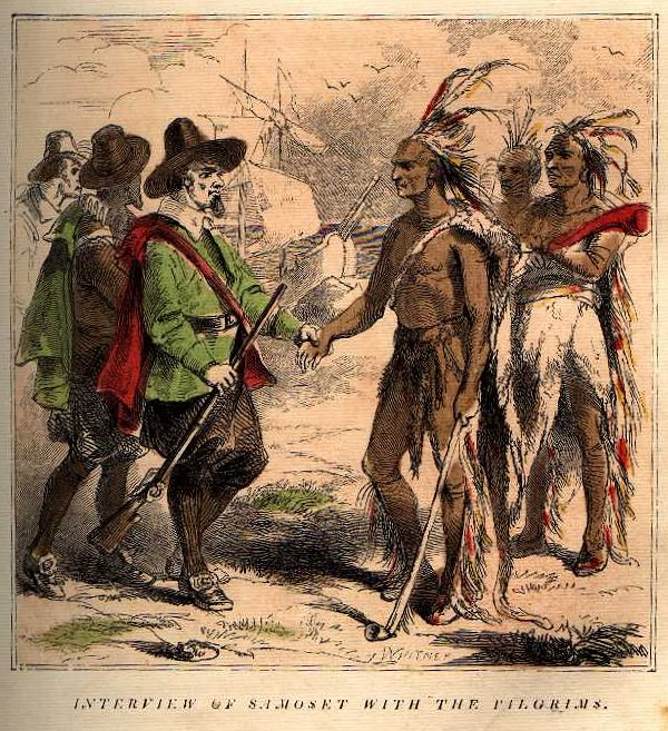 Interview of Samoset with the Pilgrims